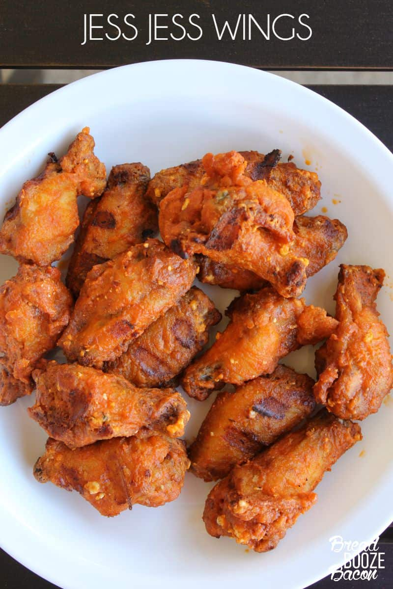 Jess Jess Wings are a dangerously good combination of buffalo sauce, blue cheese, and garlic everyone will worship you for!  #12Bloggers