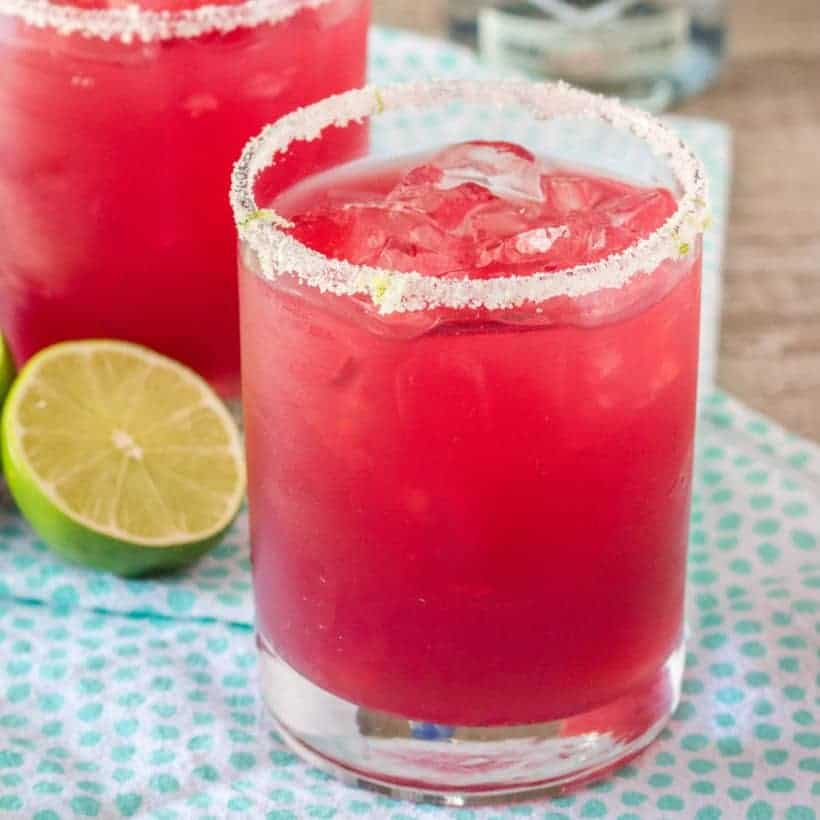 A refreshing Pomegranate Margarita is the best way to start your weekend! Make one cocktail or make a pitcher to share with friends, then sit back & relax!