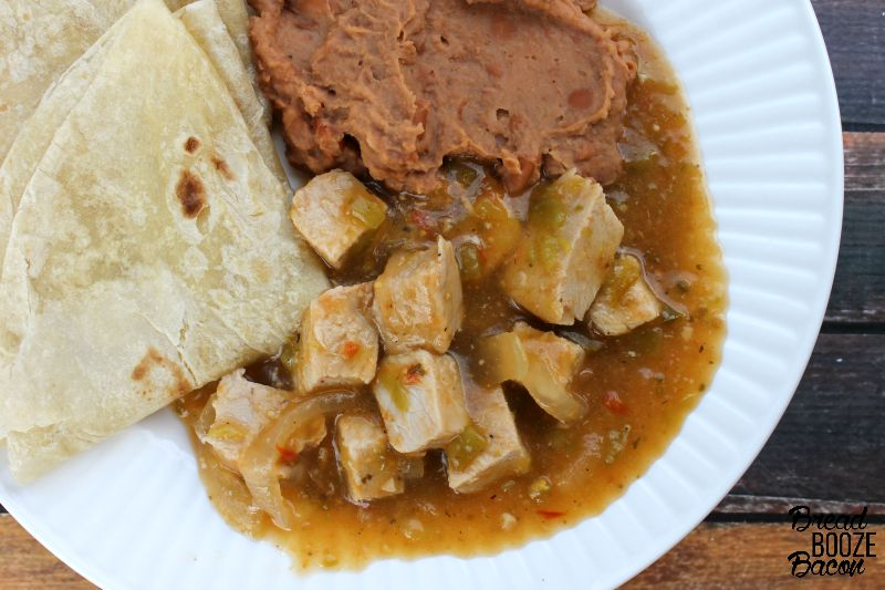 Slow Cooker Green Chile Pork makes it easy to have your favorite Mexican restaurant dish at home!