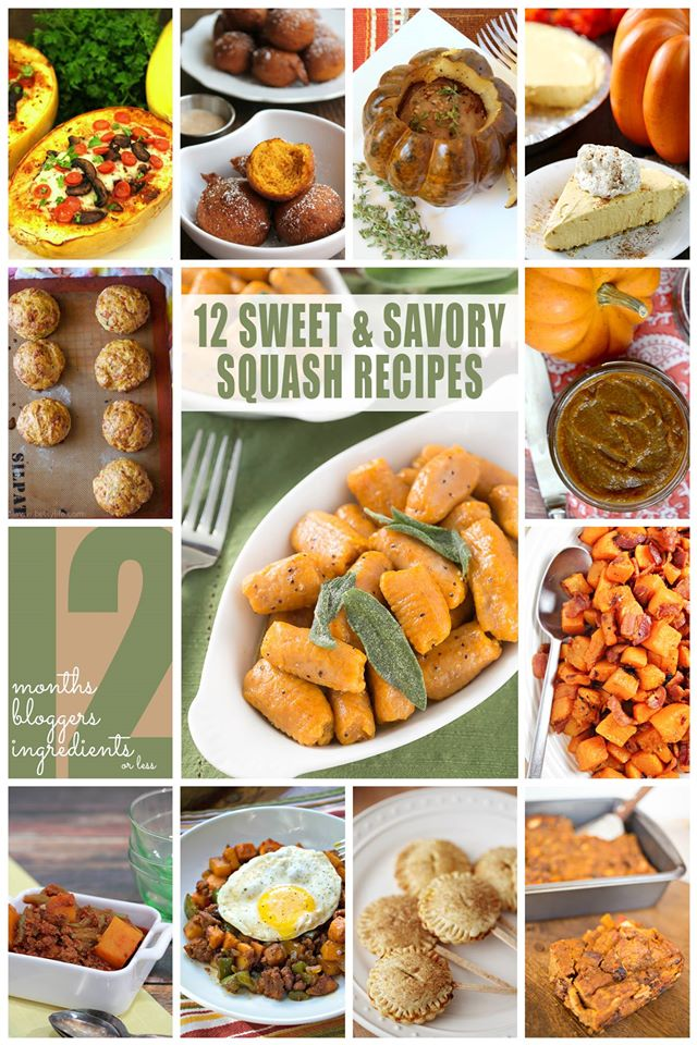 12 Sweet & Savory Squash Recipes for Fall #12Bloggers