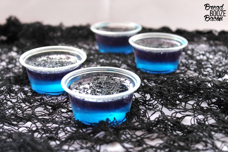 Black Magic Jello Shots are fun layered shot that's perfect for your Halloween party! Everyone will think they're magical!