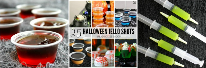 Black Magic Jello Shots collage