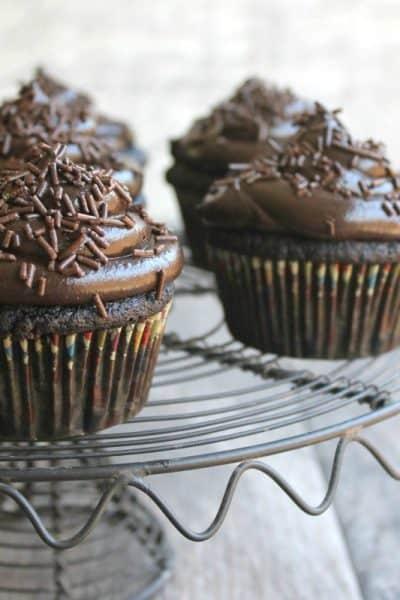 Triple Chocolate Jack Daniel's Cupcakes