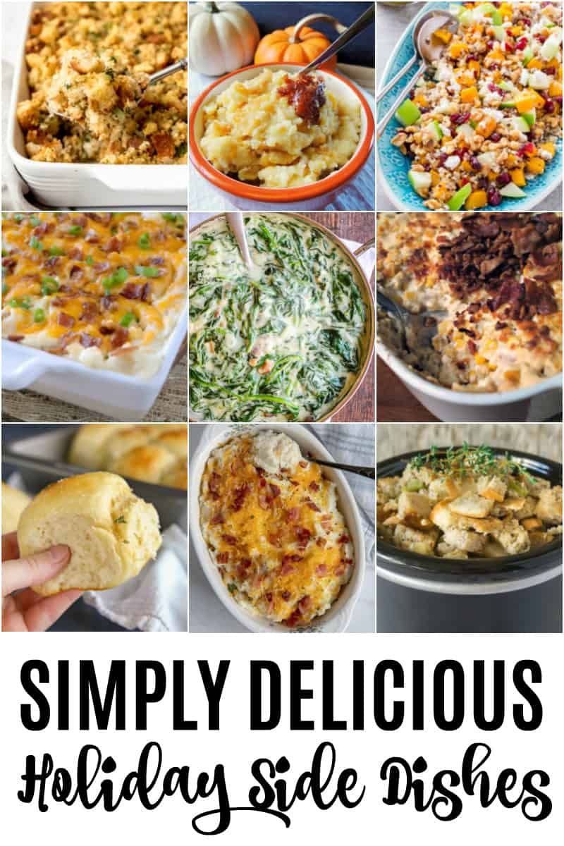 collage of 9 holiday side dishes