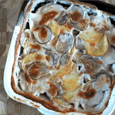 Two-Tone Scalloped Potatoes