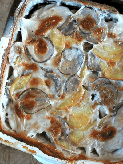 Two-Tone Scalloped Potatoes