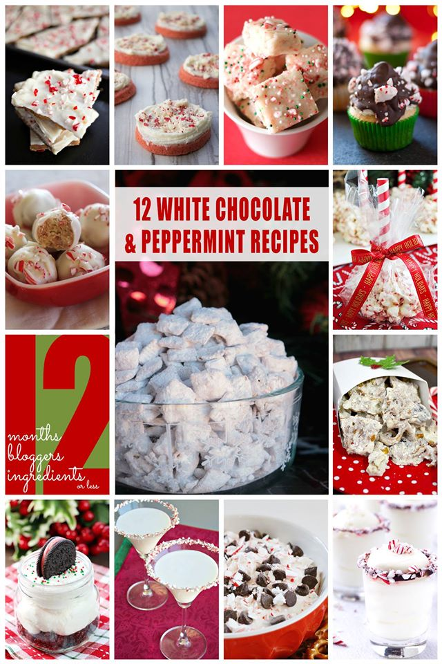12 Bloggers 2015 White Chocolate & Peppermint