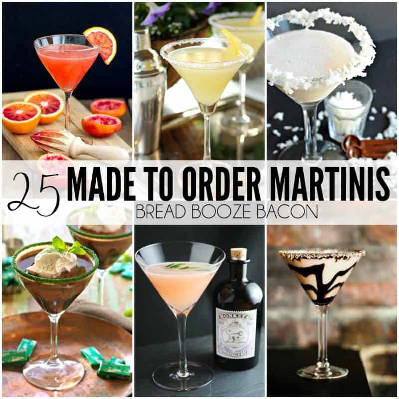 25 Made to Order Martinis