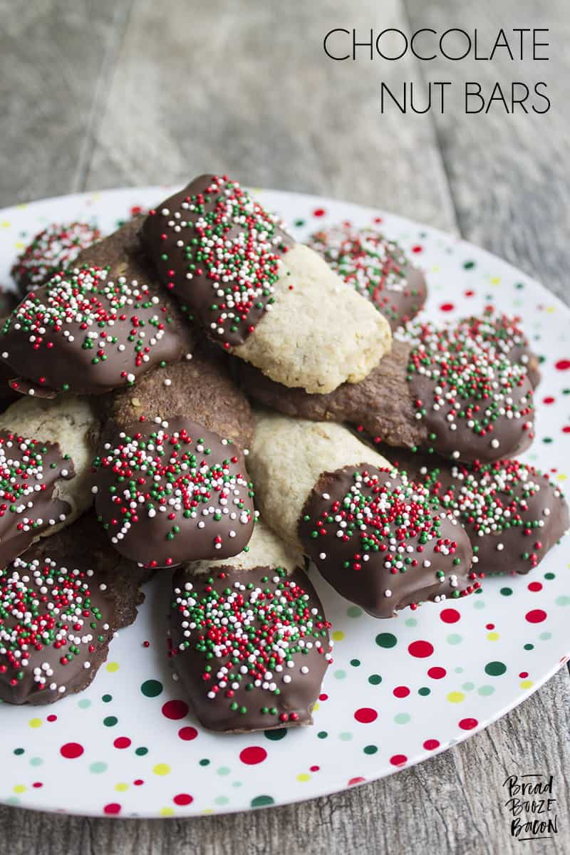 Chocolate Nut Bars are a must make for your Christmas cookie plate. They're a family favorite that the kids love to help make!