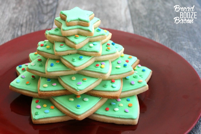 Christmas Cookie Tree Bread Booze