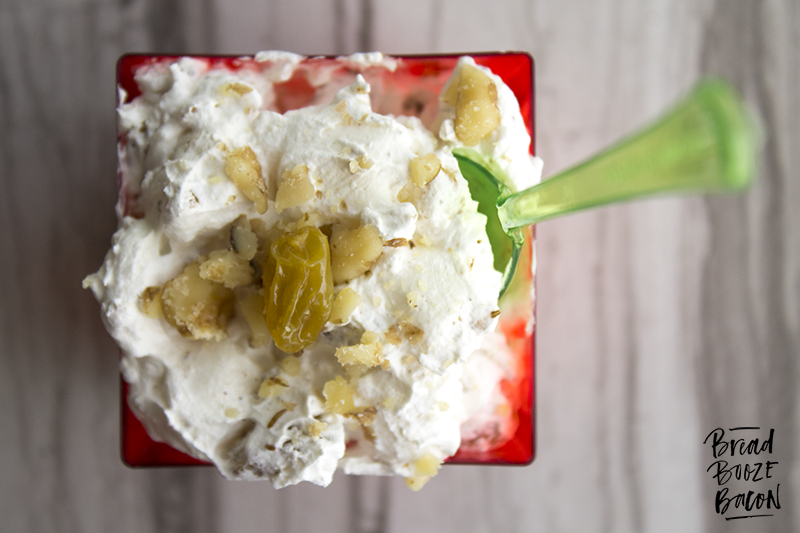 Eggnog Fluff takes a Christmas staple and turns it into a boozy little dessert that'll kick your butt!