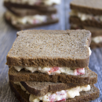 Mini Bacon, Ranch + Pimento Cheese Sandwiches are the best little bite of Southern fare for your next party!