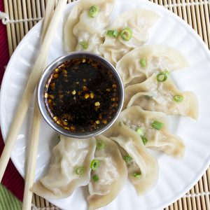 Jiaozi | Pork Dumplings are crazy easy to make and just as good as getting take out! Make a bunch and freeze some for later!