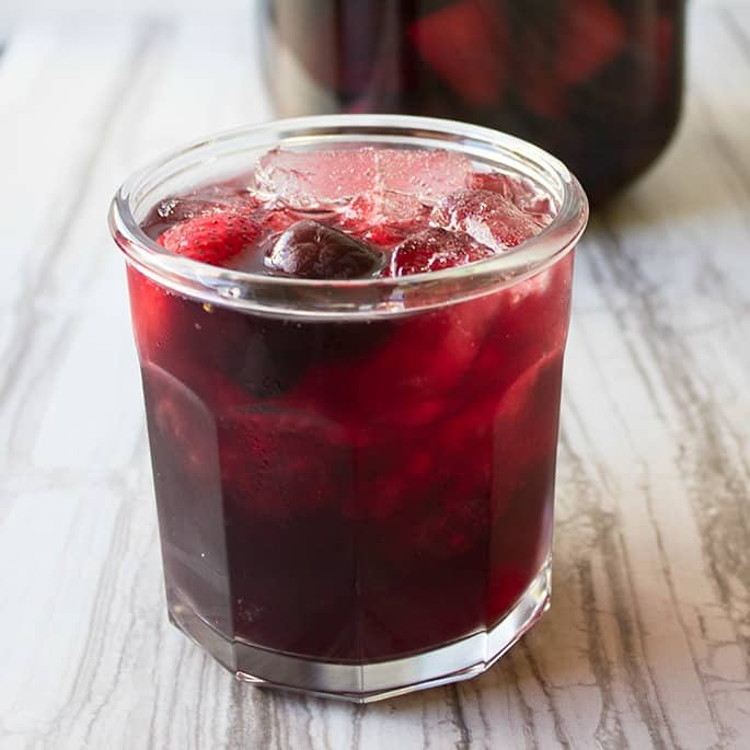 I love making our easy Red Wine Pomegranate Punch ahead of time so there's more time to enjoy the party and spend less time behind the bar! #ad