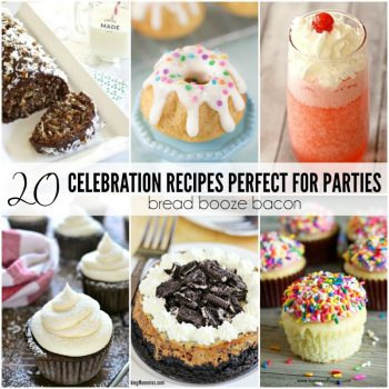 What's a party without a few killer desserts and drinks? Boring! These 20 Celebration Recipes Perfect for Parties are guaranteed to be a hit with your crowd!