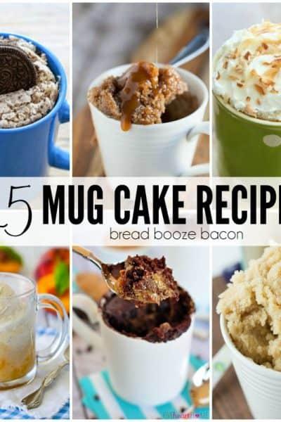 25 Mug Cake Recipes
