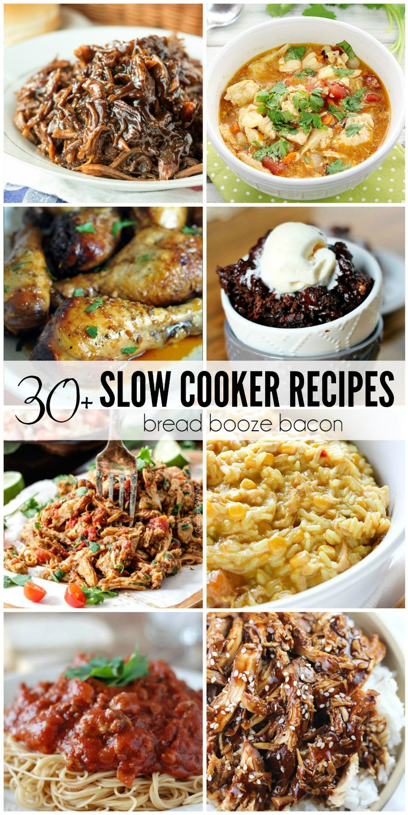 These 30+ Slow Cooker Recipes prove that your crock pot isn't just some relic from the 80's! Get dinner, dessert, or dips on the table in a snap with these killer dishes!