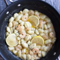 Gnocchi Shrimp Scampi is a sumptuous restaurant-style dish you can make at home in about 10 minutes!