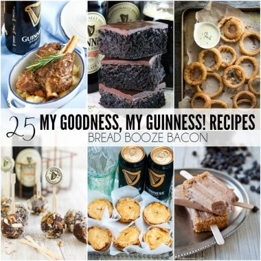 Grab a pint of the black stuff and get cooking! These 25 My Goodness, My Guinness! Recipes are the best way to have your beer and eat it too!