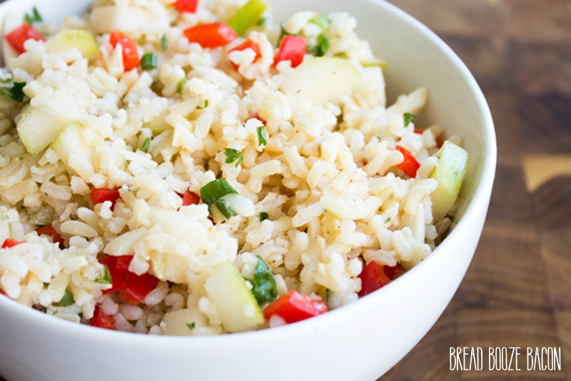 Everyone goes back for seconds when I serve up this Brown Rice & Apple Salad!