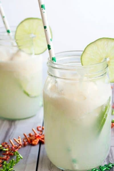 Spiked Lime Cream Soda