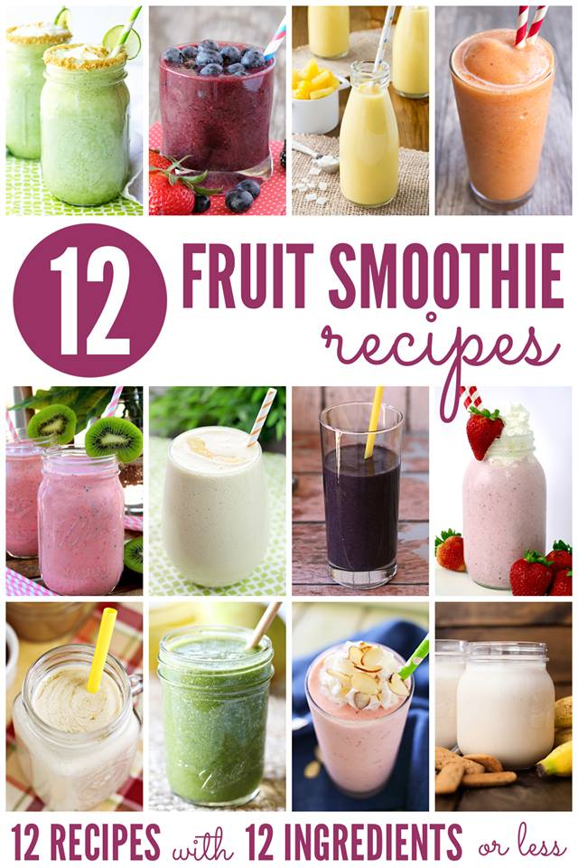 12 Fruit Smoothies | Bread Booze Bacon