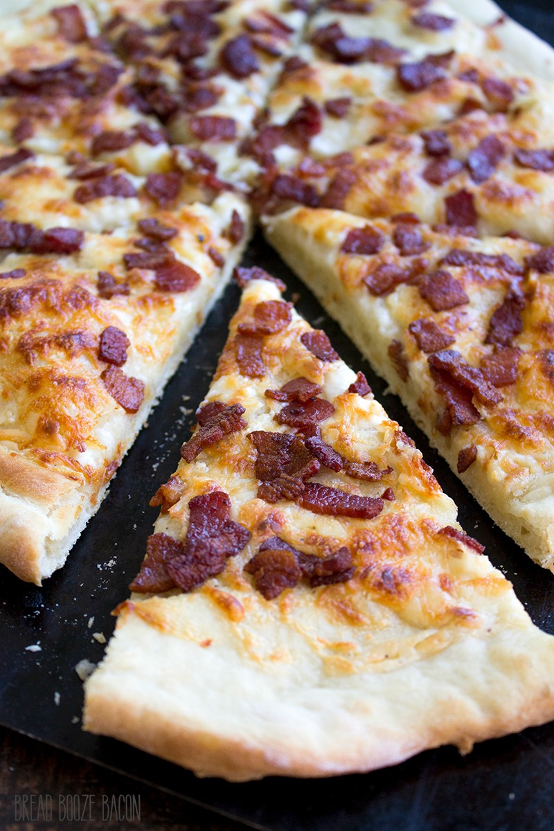 Bacon Alfredo Pizza brings together simple ingredients to create a carve-able flavor you'll love!