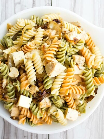 Caramelized Onion & Chicken Pasta Salad Recipe