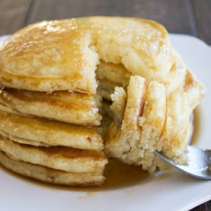 We love starting our mornings with these oh so fluffy Homemade Pancakes!