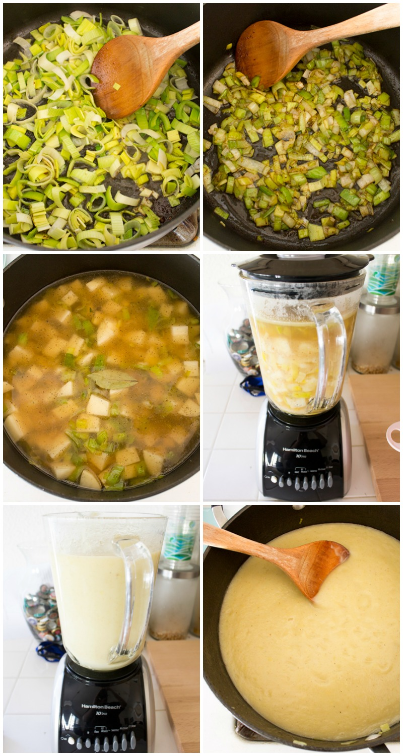 This rich & creamy Potato Leek Soup is one of my go-to comfort foods!