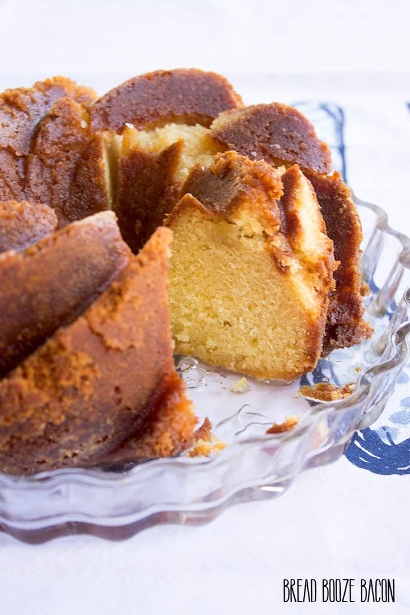Forget your regular old rum cake! My Rum-Soaked Honey Pound Cake is where it's at!!