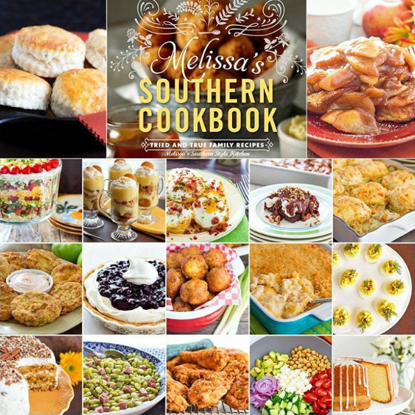 Melissa's Southern Style Cookbook collage