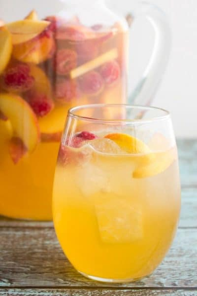 Peach & Raspberry Moscato Punch