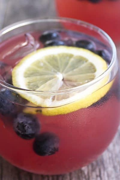 Spiked Blackberry Lemonade Punch