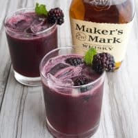 When life gives you Maker's Mark, you make The Belmont Bramble! This cocktail is a must make for the Belmont Stakes and is sure to turn anyone into a whiskey lover!