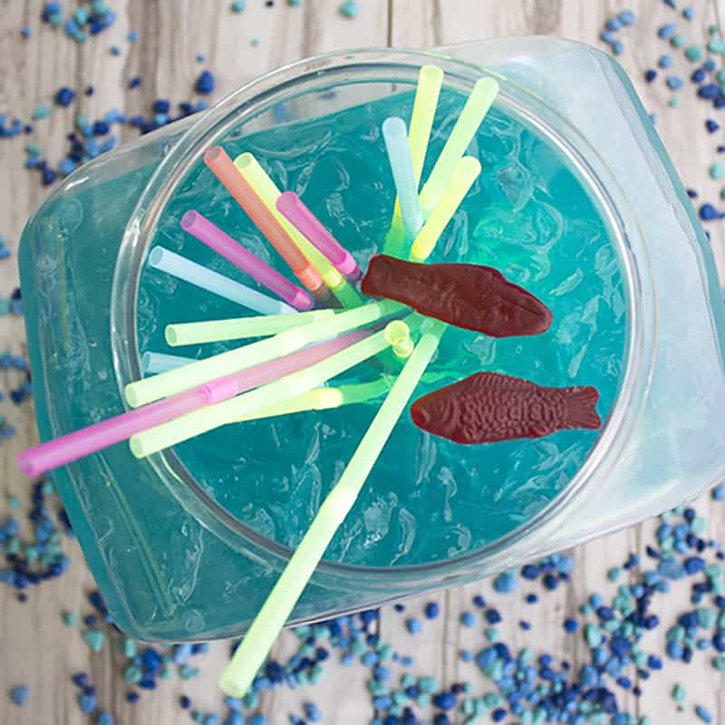 This Fish Bowl Cocktail is a fun party drink, perfect for sharing with friends!