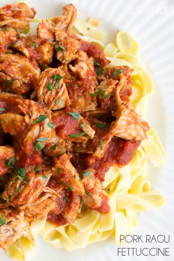 Pork Ragu Fettuccine is a Sunday supper that's sure to please!