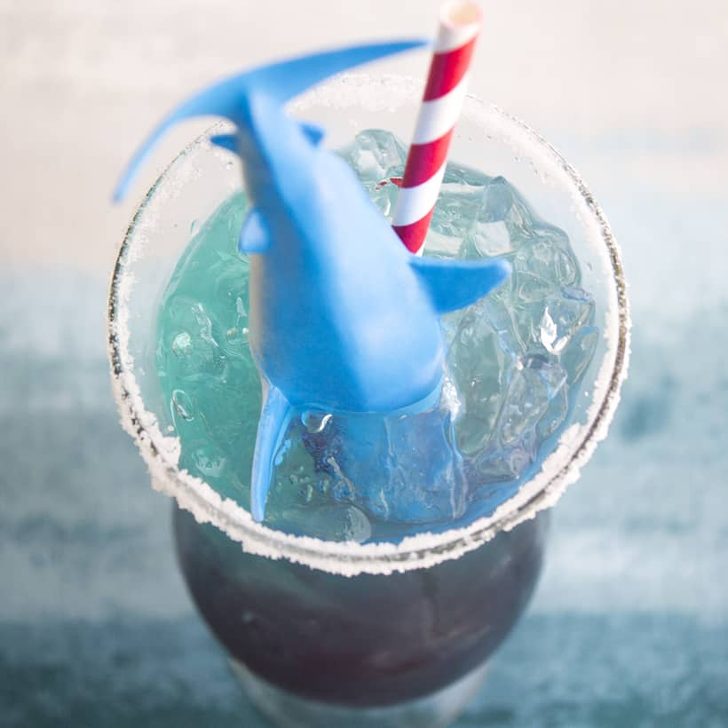 My Shark Attack Margarita is the best cocktail to watch every minute of the great white hunts and shark attack recaps on Shark Week!