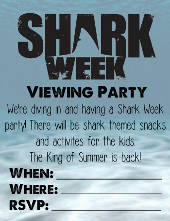 Shark Week Viewing Party Invitation