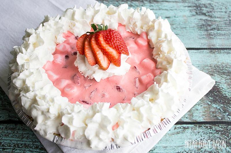 Strawberry Fluff Pie - Bread Booze Bacon