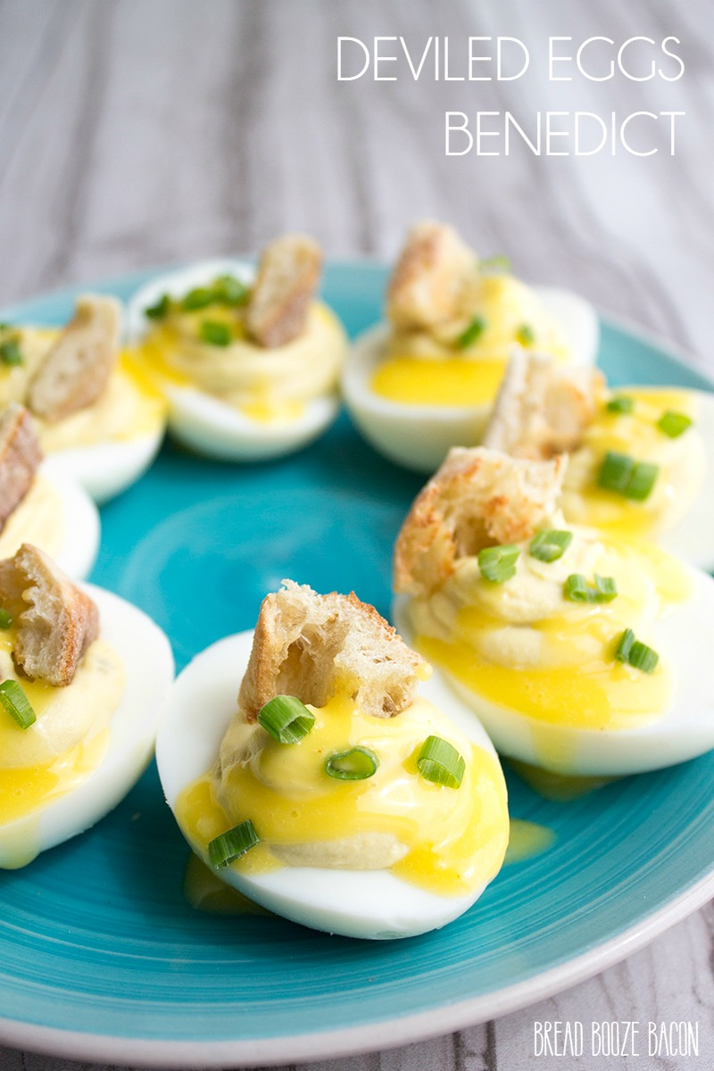 Deviled Eggs Benedict are a cross between two of my most beloved bites! They are super easy to make and disappear as fast as you can make them!