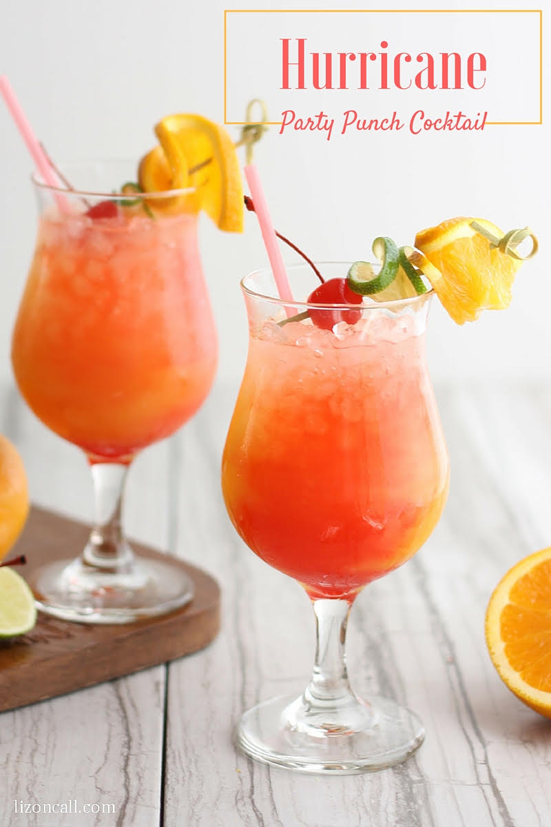 Hurricane party punch recipe bread booze bacon for Tea and liquor recipes