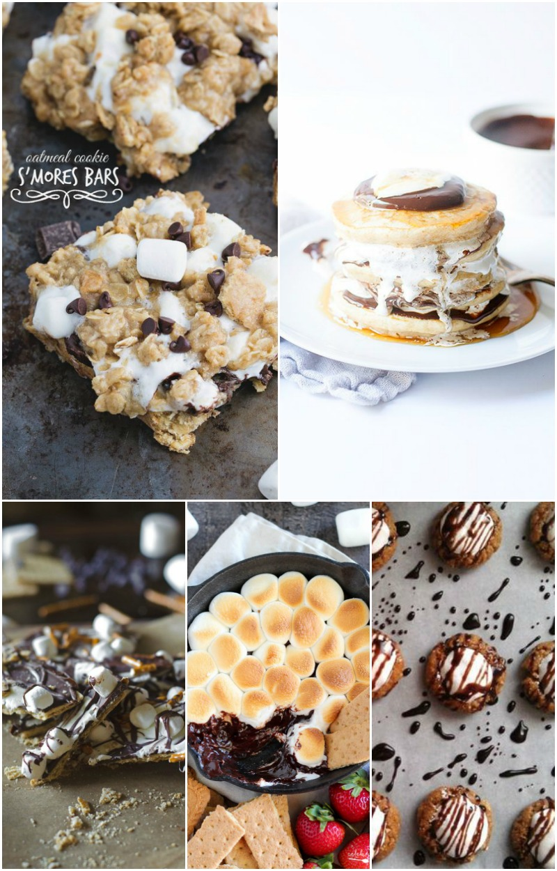 With these 25 S'mores Recipes you can enjoy the perfection that is chocolate, toasty marshmallows, and graham crackers smushed together all year long!