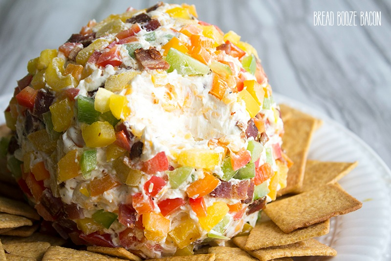 This Bell Pepper & Bacon Cheese Ball is an easy-to-make appetizer that's bursting with flavor!