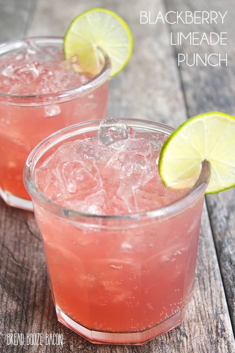 Blackberry Limeade Punch is an easy and delicious drink full of bright ...