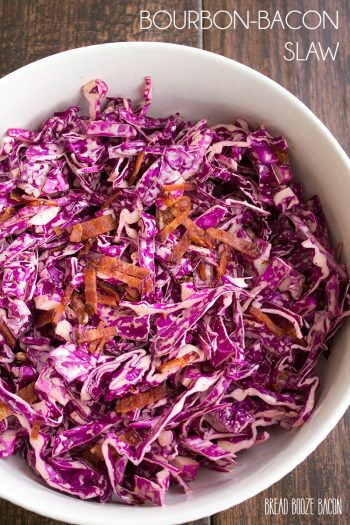 This fresh and easy Bourbon-Bacon Slaw is layered with flavors for a side dish you'll want to have again and again!