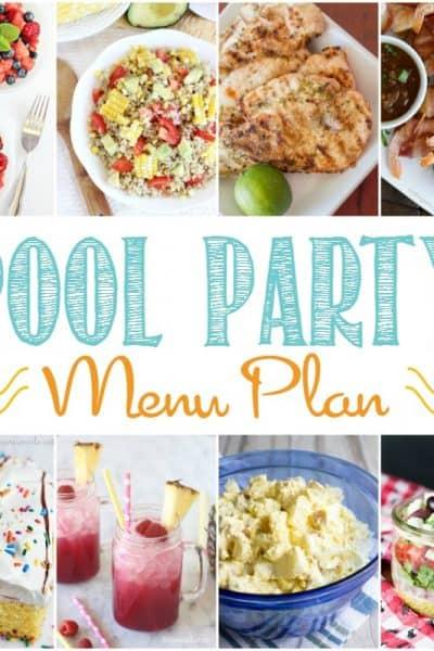 Pool Party Menu Plan