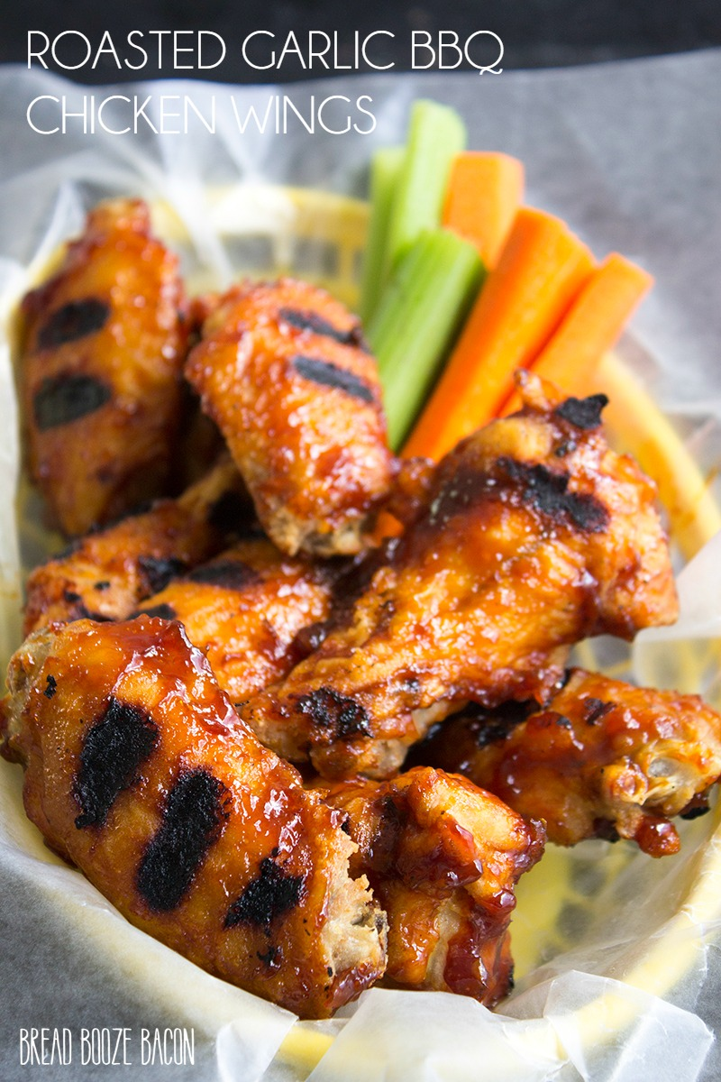 roasted garlic bbq chicken wings recipe bread booze bacon