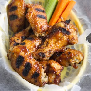 Roasted Garlic BBQ Chicken Wings Recipe are the best part of game day. Serve up a big plate of these wings and everyone wins!