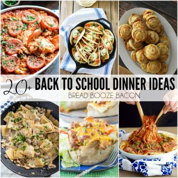 "Never dread hearing, ""What's for dinner?"" again! These 20+ Back to School Dinner Ideas are quick and easy recipes that are guaranteed to be a hit with your family!"